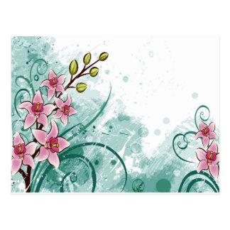 psychedelic härlig blommaabstrakt vykort