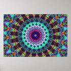 Psychedelic Kaleidoscope Konst Poster