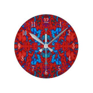 Psychedelic kaleidoscopemönster rund klocka