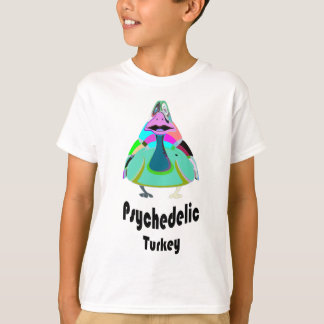 psychedelic kalkon t-shirt