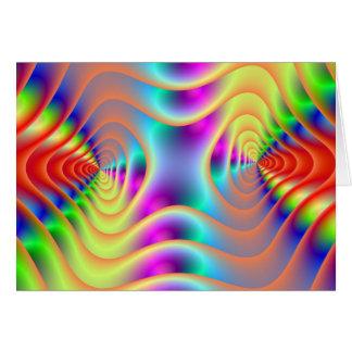 Psychedelic koppla samman spiralkortet hälsningskort