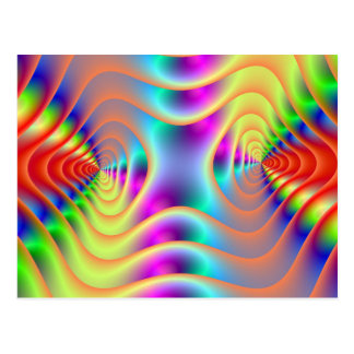 Psychedelic koppla samman spiralvykortet vykort