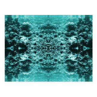 Psychedelic korallrevsymmetri vykort