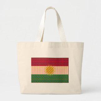 Psychedelic Kurdistanflagga Jumbo Tygkasse