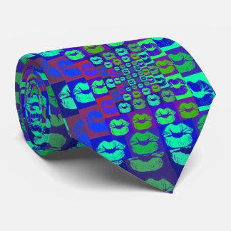 Psychedelic läppar slips