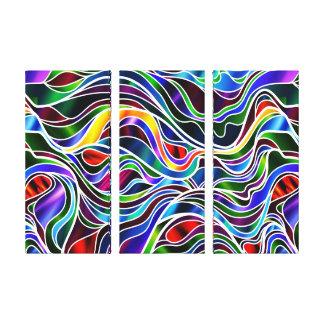 Psychedelic målat glassabstrakt canvastryck
