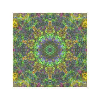 Psychedelic mandala canvastryck