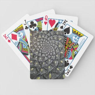 Psychedelic Mandala för Glass Chrysanthemum Spelkort