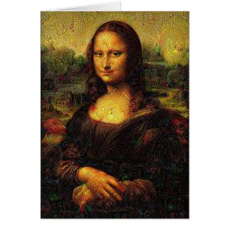 Psychedelic Mona Lisa Hälsningskort