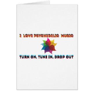 psychedelic musik hälsningskort