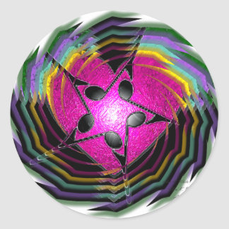Psychedelic musik runt klistermärke