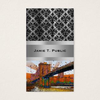 Psychedelic NYC: Brooklyn överbryggar #1 Visitkort