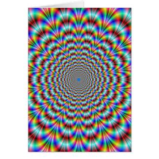 Psychedelic ögaböjapparatkort hälsningskort