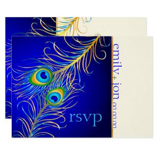 Psychedelic påfågel för PixDezines OSA/koboltblått 8,9 X 12,7 Cm Inbjudningskort