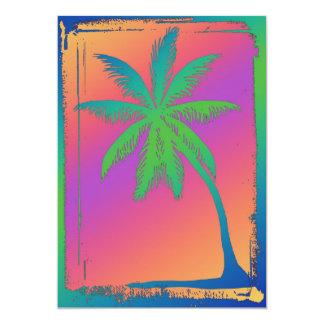 Psychedelic palmträd 12,7 x 17,8 cm inbjudningskort