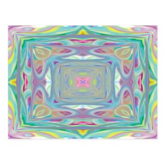 Psychedelic pastellfärgat kort