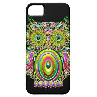 Psychedelic Popart för uggla iPhone 5 fodral