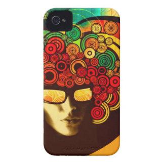 psychedelic popkonstblackberry bold täcker fodral iPhone 4 Case-Mate skal