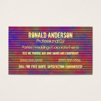 Psychedelic randar - färgrik randig abstrakt visitkort