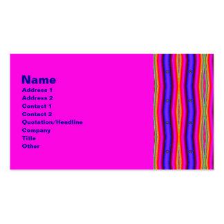 psychedelic randar set av standard visitkort