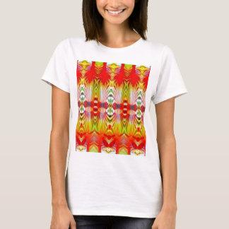 Psychedelic röd gult t shirts