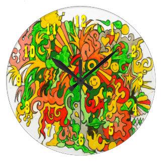 Psychedelic roligt stor klocka