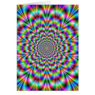 Psychedelic Rosettekort Hälsningskort
