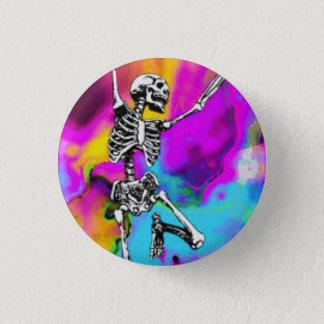 Psychedelic skelett mini knapp rund 3.2 cm