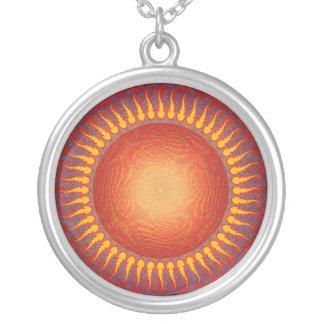 Psychedelic sol: Abstrakt konst: Halsband