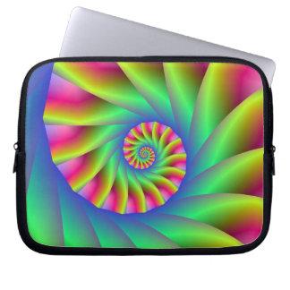 Psychedelic spiral kliver laptop sleeve