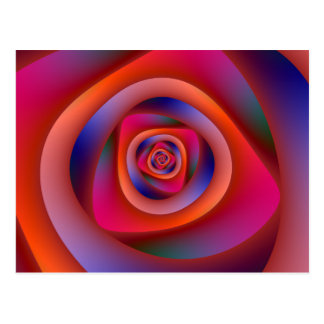 Psychedelic spiral labyrintvykort vykort