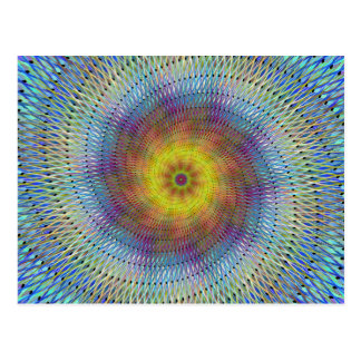 Psychedelic spiral vykort
