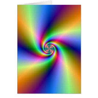 Psychedelic spiralt hälsningkort för fyra vind hälsningskort