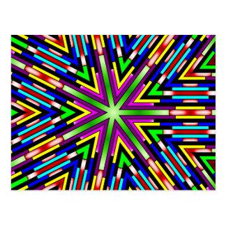 Psychedelic stjärna vykort