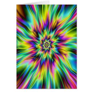 Psychedelic Supernovakort Hälsningskort