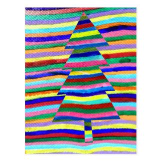 psychedelic träd vykort