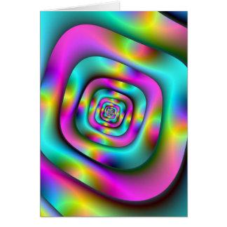 Psychedelic tunnelkort hälsningskort