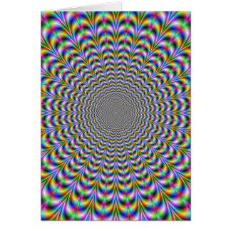 Psychedelic webbenkort hälsningskort
