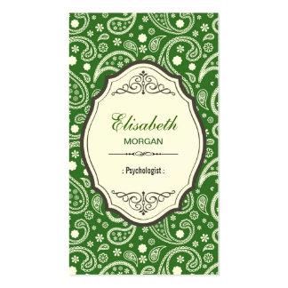 Psykolog - Retro Paisley mönster Set Av Standard Visitkort