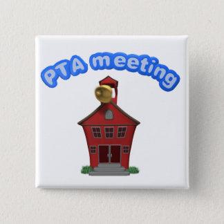 Pta-mötet på skolar standard kanpp fyrkantig 5.1 cm