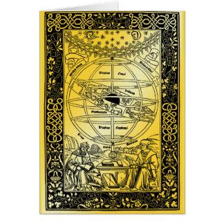 Ptolemys system av Johanes de Monte Regio 1543 Hälsningskort