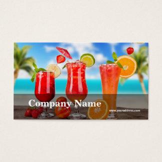 Pub för bassäng för fruktgrönsakfruktsaft visitkort