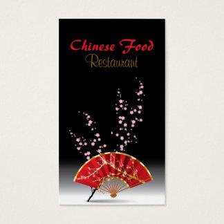 Pub för mål för fläkt för kinesisk matrestaurang visitkort