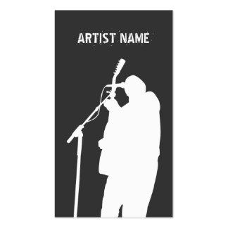 Publicitet för konstnär för musikband för musikerg visit kort