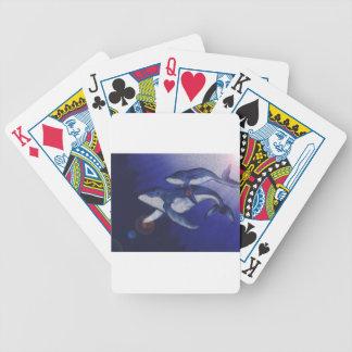Puckelryggval och bebis spelkort