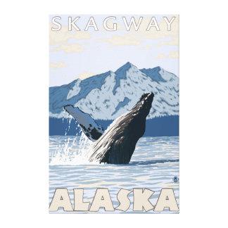 Puckelryggval - Skagway, Alaska Canvastryck