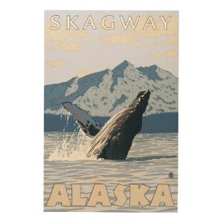 Puckelryggval - Skagway, Alaska Trätavla