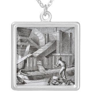 Puddling järn silverpläterat halsband