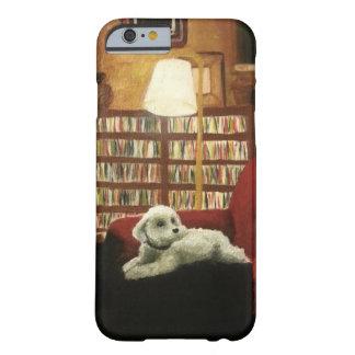 Pudel på stolhusdjurporträtt barely there iPhone 6 fodral
