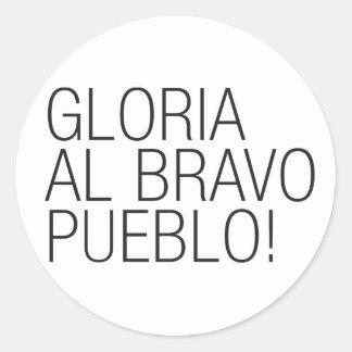 Pueblo för Gloria AlBravo - Venezuela Runt Klistermärke